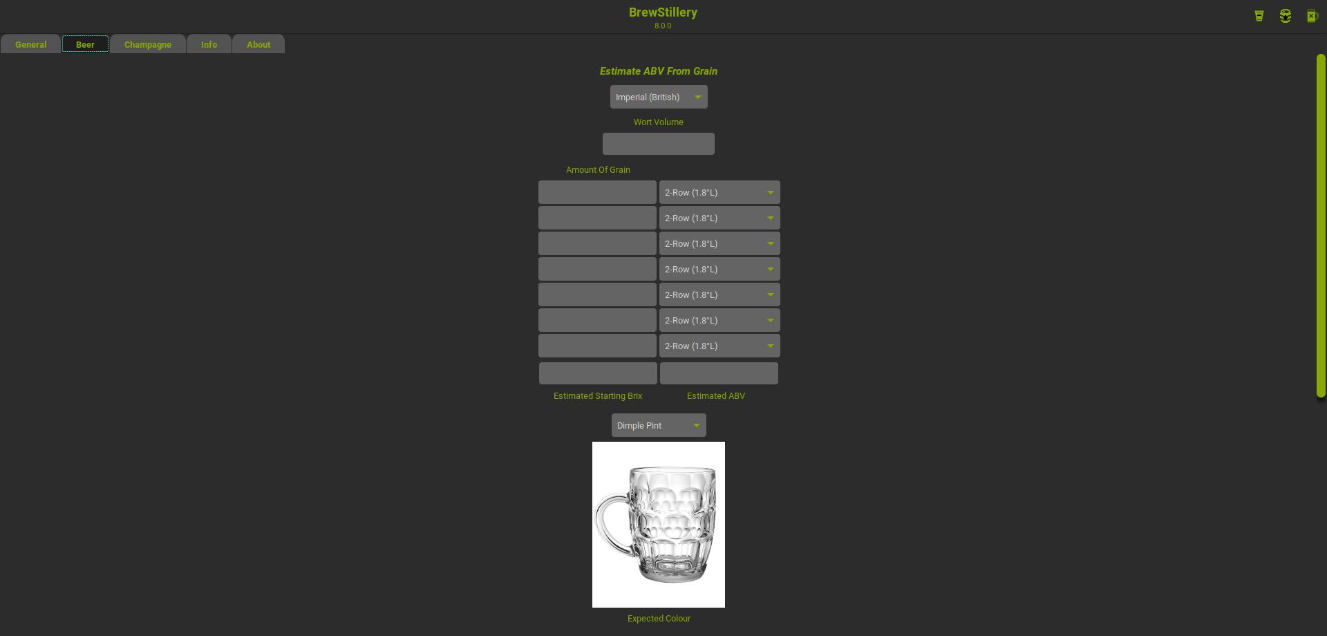 BrewStillery Beer Tab Empty Glass